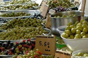 Obst und Gemüse auf dem Markt von Inca