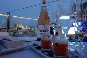 Blick auf Palma vom Restaurant des Hotels Saratoga