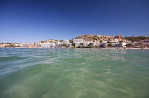 Blick vom Meer auf Santa Ponsa