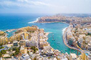 Sliema ist ein beliebter Ferienort auf Malta für Gruppenreisen