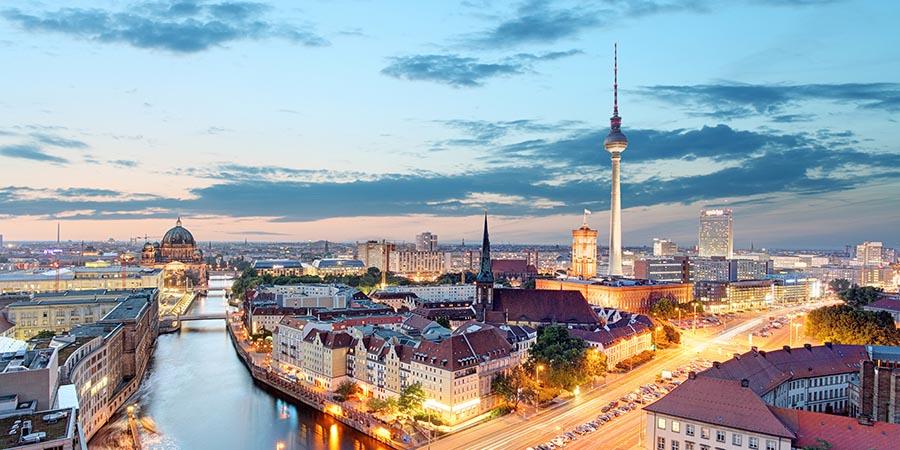 Blick auf das abendliche Berlin