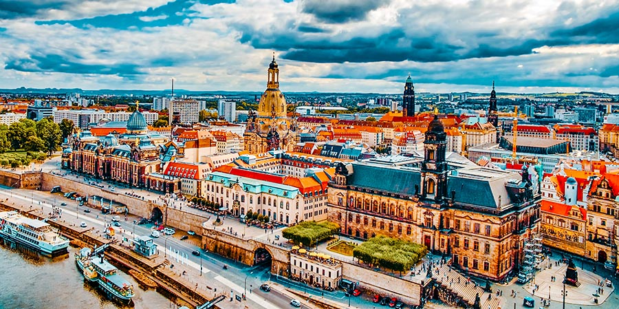 Stadtzentrum von Dresden