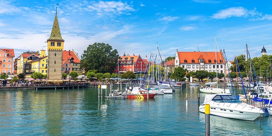 Der Bodensee - hier mit Blick auf Lindau - ist ein beliebtes Ziel für eine Gruppenreise in Deutschland