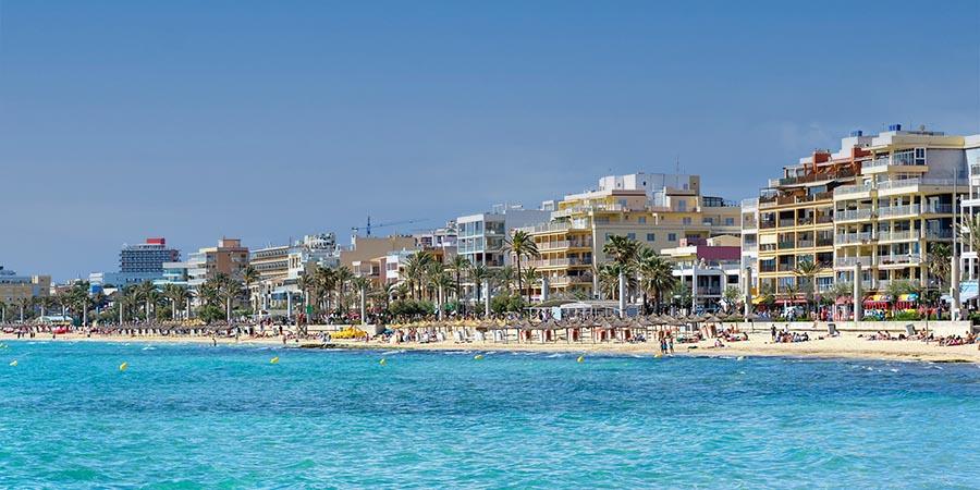 Beliebtes Ziel für Gruppenreisen auf Mallorca: Die Playa de Palma